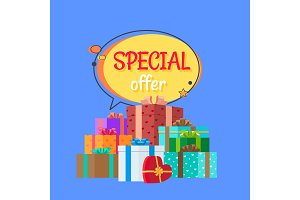 Special Offer Free Gifts Poster with Decor Boxes