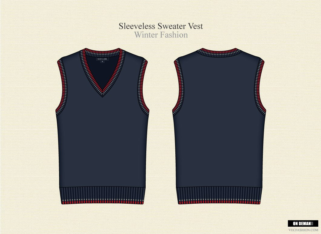 Men V Neck Sleeveless Sweater Vest ~ Illustrations ~ Creative Market