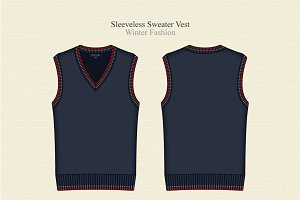 Men V Neck Sleeveless Sweater Vest