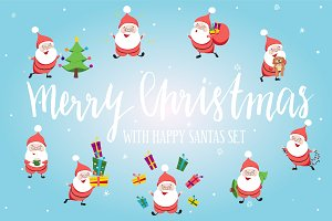 Happy Santa Clause set