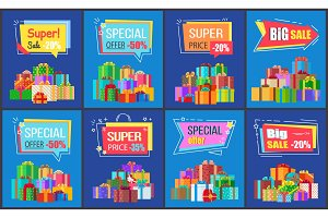 Big Sale Super Special Price Vector Illustration
