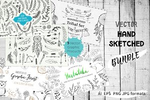 Vector Hand Sketched BUNDLE