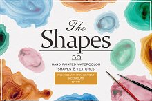 The Shapes (watercolor textures)