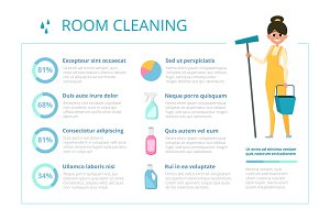 Infographic design template for cleaning service industry