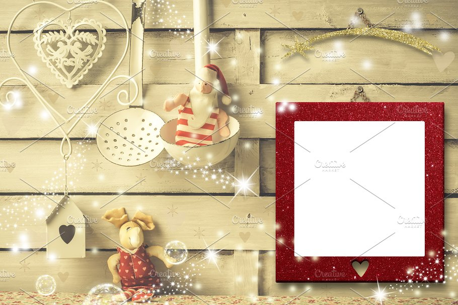 Christmas photo frames cards ~ Holiday Photos ~ Creative Market