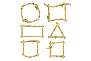 Different decorative frames from bamboo