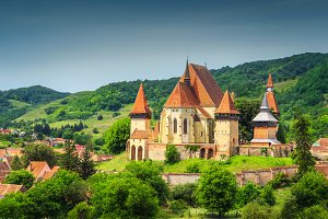 Saxon fortified church in Biertan