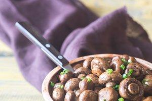 Soy balsamic mushrooms
