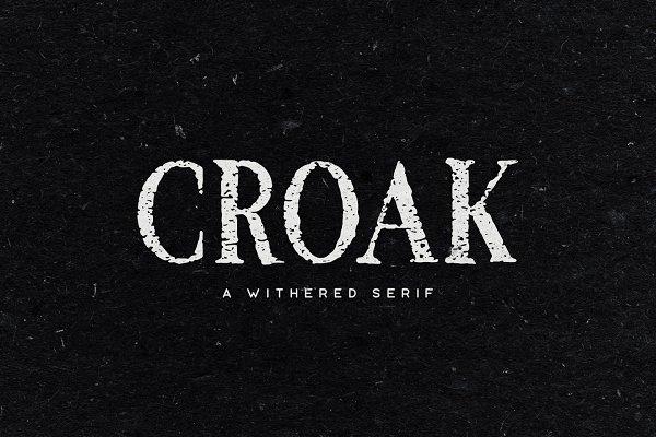 Croak Typeface