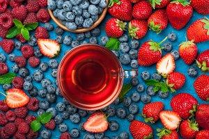 Herbal tea with berries mix
