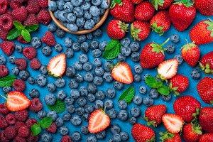 Various fresh summer berries