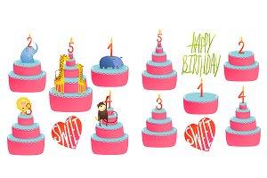 Birthday Animals Cakes Collection
