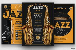 Jazz Day Flyer Bundle