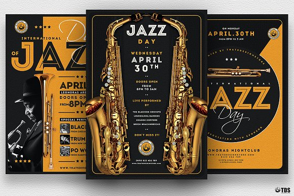 Jazz Day Flyer Bundle-Graphicriver中文最全的素材分享平台