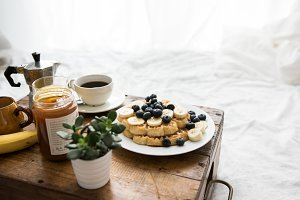 Cozy winter breakfast in bed VII