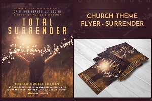 Church Christian Flyer - Surrender