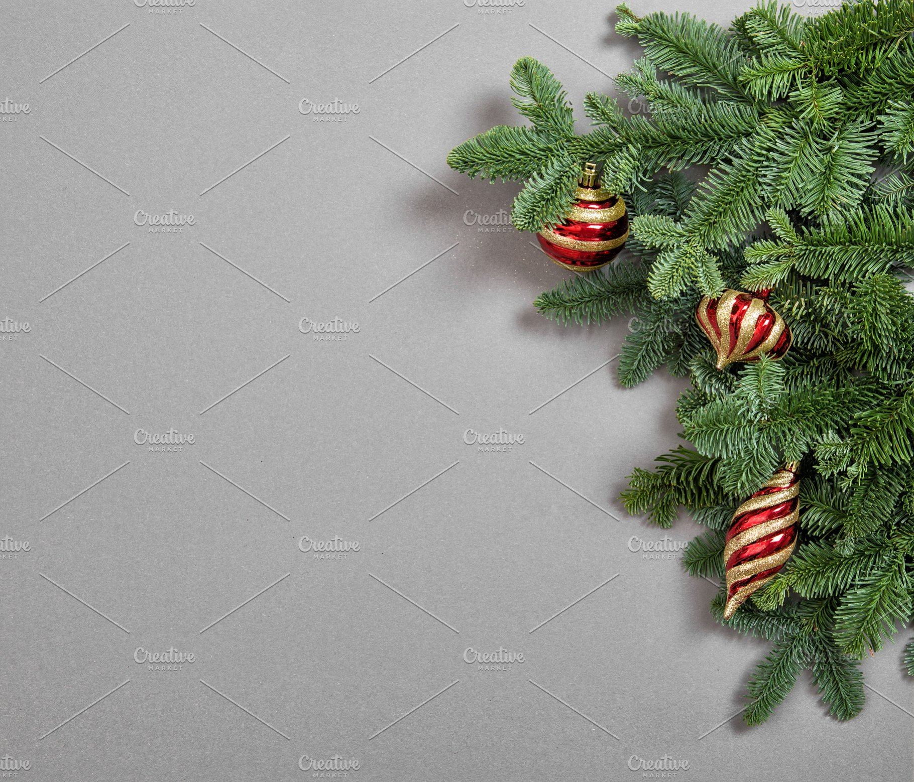 Christmas Tree Branches Decoration Holiday Photos Creative Market