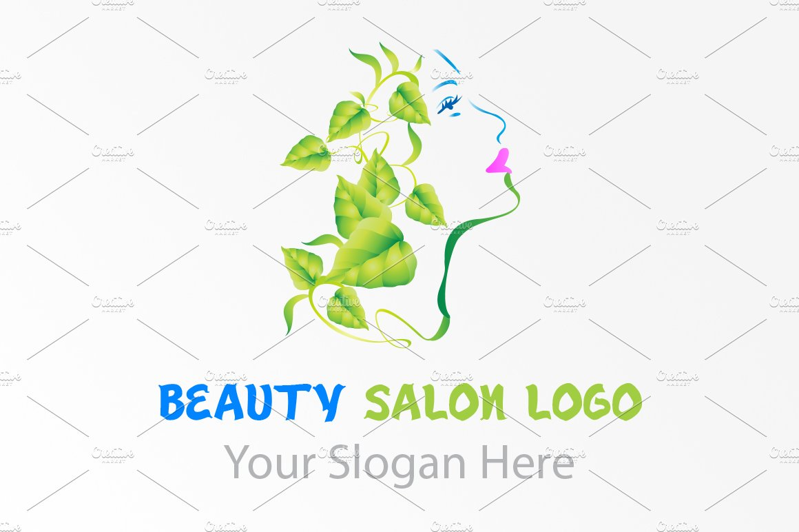 Natural Beauty Salon Logo Templates Creative Market