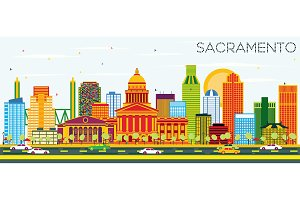 Sacramento USA Skyline