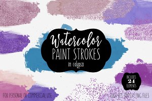 Calypso Watercolor Paint Splashes