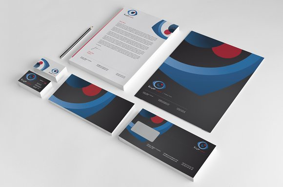 eye care corporate identity stationery templates creative market