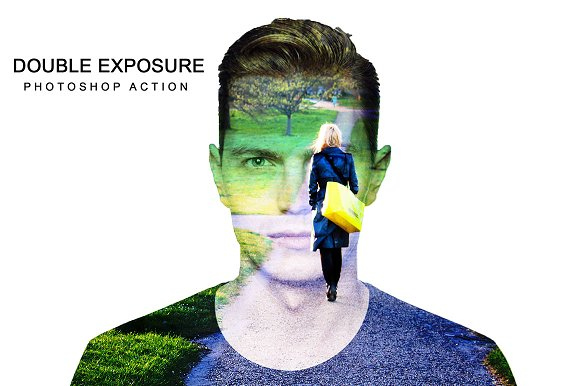 Double Exposure Photoshop A-Graphicriver中文最全的素材分享平台