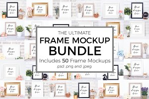 Ultimate Frame Mockup Bundle