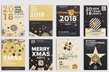 Set of 10 Christmas Party Flyer