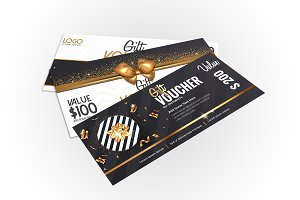 Collection of elegant gift vouchers