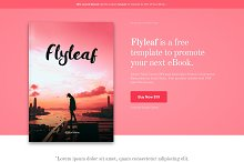 Flyleaf - eBook WordPress Theme by  in Landing Page