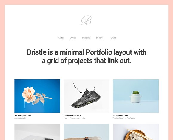 Bristle - Portfolio WordPress Theme