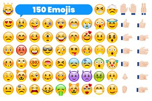 Set of 150 Emojis