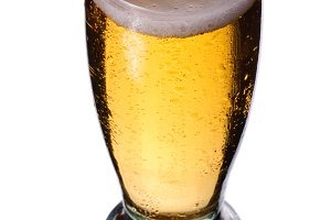 Beer with waterdrops