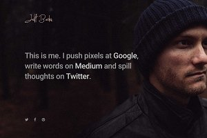 Me - Personal WordPress Theme