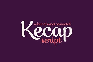 Kecap; Script Font