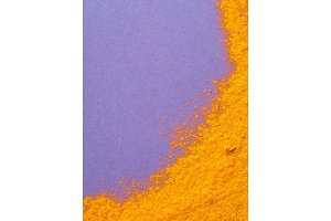 Turmeric Powder with copy space