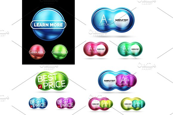 Glass And Metal Buttons Or Labels