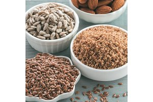 LSA mix, Linseed, Sunflower seeds, Almonds