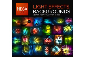 Mega collection of glowing light effects abstract backgrounds