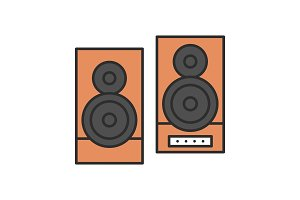Speakers color icon