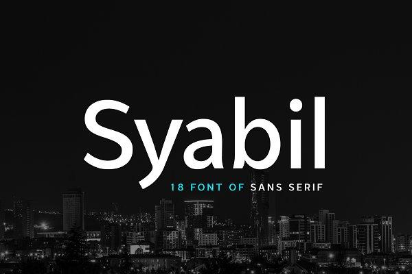 Syabil 18 Sans Serif Font