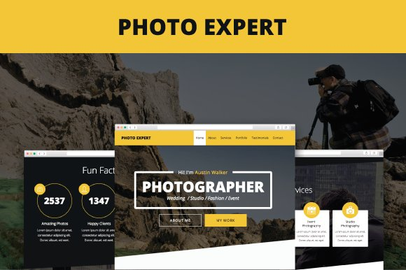 Photo expert adobe muse template website templates creative market photo expert adobe muse template websites maxwellsz