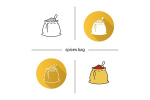 Spices bag icon