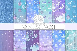 WINTER WATERCOLOR paper pack