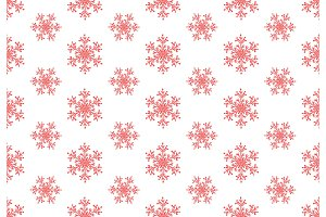 Red snowflakes seamless pattern. Winter christmas background