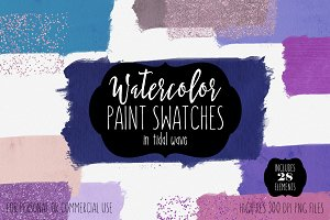 Tidal Wave Watercolor Paint Swatches