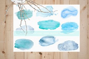 Watercolor hand painted textures