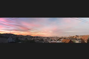 Panoramic Sunset Over San Francisco