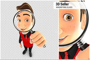 3D Seller Magnifying Glass