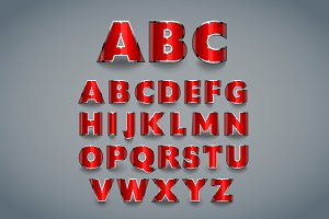 Shiny red font